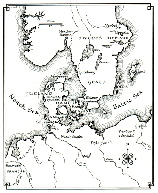 Beowulf Map (Klaeber)